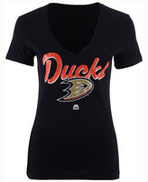 Majestic Women's Anaheim Ducks Match Penalty Glitter T-Shirt