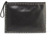 Valentino Rockstud Oversized Leather Clutch