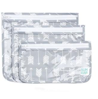 Bumkins Clear Arrow Print 3-Pack Travel Pouch Set