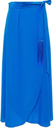 Forte Forte Fringe-trimmed Silk Crepe De Chine Maxi Wrap Skirt
