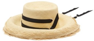 Sensi El Campesino Frayed-edge Straw Hat - Womens - Beige