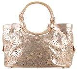 Jimmy Choo Metallic Perforated Star Bag