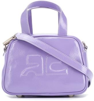 Courreges Logo Embossed Leather Mini Bag