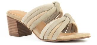 Crevo Rubie Suede Knotted Slip-On Heeled Sandal