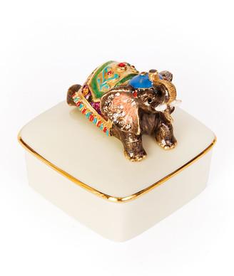 Jay Strongwater Elephant Porcelain Box
