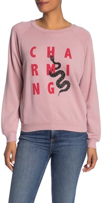 Wildfox Couture Fiona Crew Neck Charming Pullover