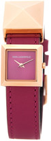 Karl Lagerfeld Women&s Demi Stud Leather Strap Watch