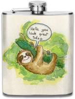 ZhongXiaoStyle Sloths Are Cute Stainless Steel 7-Oz Hip Flask & Funnel