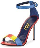 FSJ Women Casual Stilettos Two Pieces Sandals Open Toe Ankle Buckle Size 11