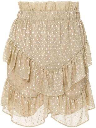 IRO Melbou ruffled mini dress