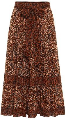 Ulla Johnson Sierra leopard-print cotton midi skirt