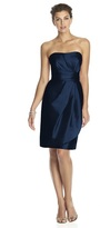 Alfred Sung D602 Bridesmaid Dress in Midnight