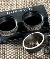 Chilewich Mini Basketweave Napkin Rings (Set of 4)