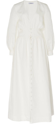 Deitas Lucia Bishop Sleeve Linen Dress