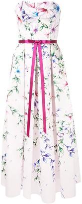 Marchesa Mikado midi tea dress