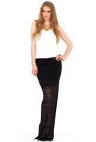 De Lacy De Lacy Collection Highland High Waist Maxi Skirt in Black