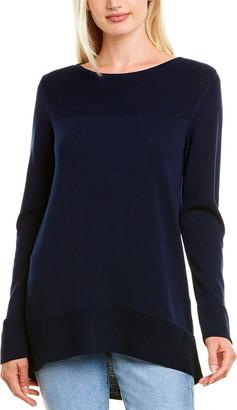 Forte Cashmere Round Hem Pullover