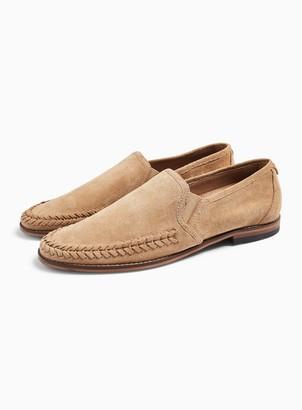 Hudson TopmanTopman Sand Suede 'Crewe' Loafers