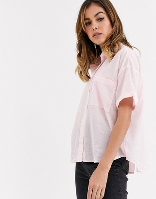 Levi's maxine denim shirt-Pink