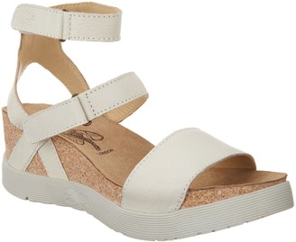 Fly London Leather Ankle Strap Wedges - Wink