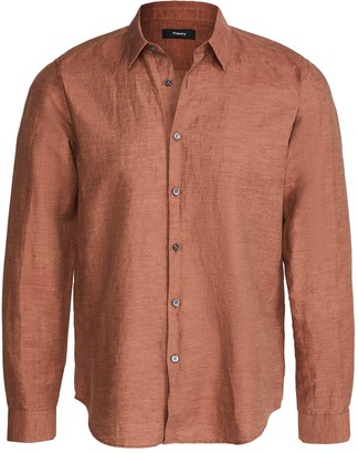 Theory Irving Shirt In Essential Linen Twill