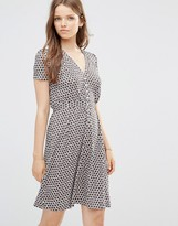 French Connection Tea Dress in Ditsy Floral Print