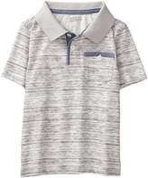 Crazy 8 Marled Gray Space Dye Polo - Infant, Toddler & Boys