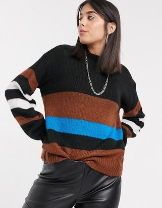 Kaffe round neck jumper in stripe
