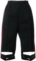 Maison Margiela tailored cut-detail shorts