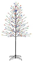 Philips 6ft Pre-Lit LED Artificial Christmas Tree Birch - Cool White and Multicolored Lights