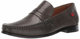 Marc Joseph New York Mens Genuine Grainy Leather Windsor Place Penny Loafer