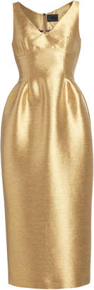 Lake Studio Lamé Midi Dress Size: 38