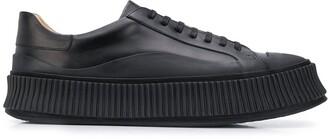Jil Sander Lace-Up Low-Top Sneakers