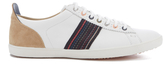 Paul Smith Men's Osmo Leather Low Top Trainers White Mono Lux