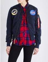 Alpha NASA MA-1 shell bomber jacket