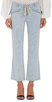 Ulla Johnson Women's Patria Striped Lace-Up Crop Jeans