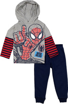 Children's Apparel Network Gray Spider-Man Hooded Tee & Sweatpants - Toddler