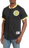 Mitchell & Ness Men's Nhl Seasoned Pro - Boston Bruins Mesh Shirt