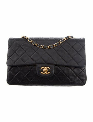 Chanel Vintage Medium Classic Double Flap Bag Black