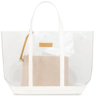 Vanessa Bruno Large transparent Canvas and Sequins Cabas Tote Bag