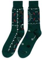 Sacai Paisley intarsia socks