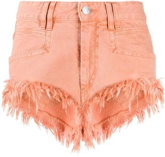 Isabel Marant Fringed Denim Shorts