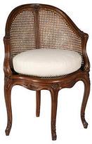 Reyes Allan Corner Chair w/ Caned Back