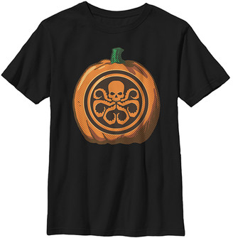 Fifth Sun Boys' Tee Shirts BLACK - Black Skull Pumpkin Tee - Boys
