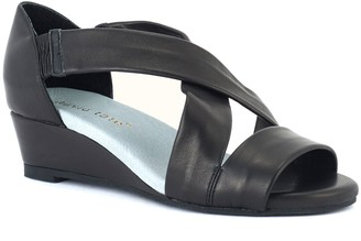 David Tate Criss-Cross Wedge Sandals - Swell