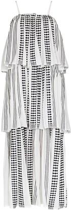 Lemlem Tigist tiered ruffle maxi dress