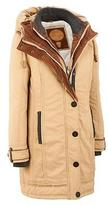 Black Rivet Womens Cotton Puffy Jacket XL Tan