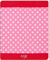 Essential Throw, 46X56, Pink Dot
