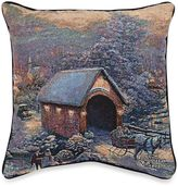 Thomas Laboratories Kinkade Winter Evening Memories Pillow