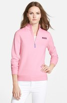 Vineyard Vines Women's Shep Half Zip French Terry Pullover